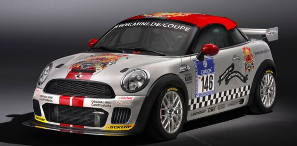 24 Hours of Nurburgring Mini John Cooper Works Coupe gets a turbocharged 1.6-liter direct-injection four-cylinder engine and six-speed manual gearbox